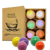 Wholesale bath balls wholesale online - Bubble Bath Bombs Gift Set Rose Cornflower Lavender Oregon Essential Lush Fizzies Scented Sea Salts Balls Handmade SPA Gift g