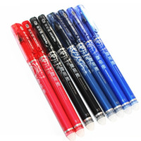 jel kalem mavi mürekkep toptan satış-4370 0.5 Mm Silinebilir Jel Kalem Mavi Koyu Mavi Siyah Ve Kırmızı Mürekkep Ofis Okul Kırtasiye Malzemeleri Seçmek Için 12 Adet / grup