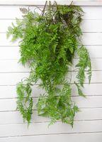 ingrosso piante di pino-Piante artificiali Polygonatum all'ingrosso Foglie di felce di pino Appeso a parete in rattan decorativo pianta di decorazione di Natale fiore