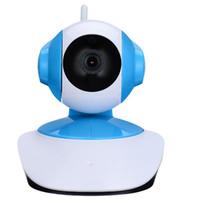 caméra ccd fpv achat en gros de-2017-Sans Fil WiFi Système de Caméra de Sécurité 1.3MP 720 P HD Pan Tilt IP Surveillance de Réseau Webcam Bébé Moniteur, Audio, Intégré Microphon