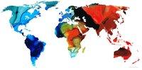 pintura a óleo do mapa mundial venda por atacado-YJ ARTE mapa-do-mundo Sem Moldura Moderna Arte Da Parede Da Lona para Casa e Escritório Decoração, Pintura A óleo, pintura Animal, pintura Quadro