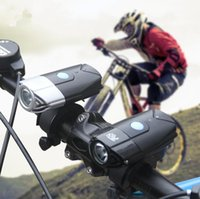 Wholesale bike light flashlight online - USB Rechargeable L2 T6 Bike Front Light Riding Flashlight Lithium Battery Cycling LED Head Light Lamp GGA581