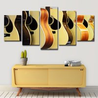 Wholesale musical instruments art paintings for sale - Group buy Canvas Wall Art Pictures Home Decor Living Room Pieces Guitars Display Painting HD Prints Musical Instruments Poster