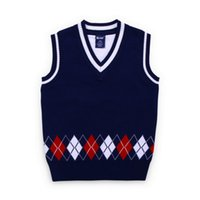 Wholesale jackets for infants boys - Boys Knit Vest Boys Knitted Sweater Coat For Girls Clothes Baby Soft Cotton Jacket Vest Warm Outwear Infant Autumn&Winter
