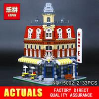 Wholesale toy bricks for children online - LEPIN Cafe Corner Model Building Blocks Bricks Educational Toy Model Gift Compatible With for Children
