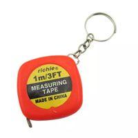 брелок для ключей оптовых-Лента нержавеющей стали измеряя (100 см) Портативная мини круглая рулетка измеряя гибкая лента правила с ключевым кольцом
