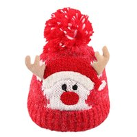 ingrosso cervo beanie baby-Natale Bambino Bambini Ragazze Ragazzi Inverno caldo in maglia di lana Beanie Cappelli Natale carino cervi tappi per le forniture di Natale
