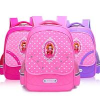 büyük sevimli sırt çantaları toptan satış-Sevimli Prenses Çocuk Okul Çantaları 1-6 T çocuklar için Ortopedik Su Geçirmez Sırt Çantası Dalış takım elbise kumaş büyük kapasiteli
