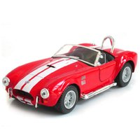 Wholesale car cobra - Alloy Ford Shelby Cobra Car Toy 1:32 Children Diecast Model Pull Back Cars Toys Gift For Kids High Quality 17lx WW
