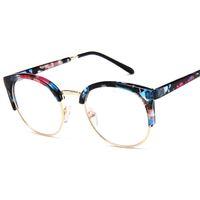 lunettes à demi œil achat en gros de-VBNMTransparent Lunettes Femmes Cat Eye Eyeglasses Cadres Hommes Half Frames Vintage Optical Spectacles Myopic Eye Glasses