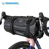 Wholesale bicycle bags panniers resale online - ROSWHEEL Waterproof Bike Handlebar Bag Bicycle Front Tube Pocket Bikepacking Bag L Nylon Hiking Cycling Pannier Bicycle Bags