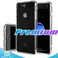 Wholesale premium silicone - Premium For Apple iPhone 7 8 Case Crystal Clear Shock Absorption Technology Bumper Soft TPU Cover Case for iPhone 7 Plus 8 Plus Cases