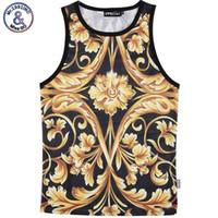 Wholesale Tank Top Flowers - Wholesale- Mr.1991INC Men Summer Tank Tops 3D Yellow Flower Digital printing Mesh Vest Jersey Sleeveless tee shirts For Men Size M-XXL