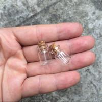 12 frascos al por mayor-12 * 18 * 6mm 0.5ml Mini botellas de vidrio con corcho Botella de deseo pequeña vacía Frascos de vidrio Frascos 200pcs / lot