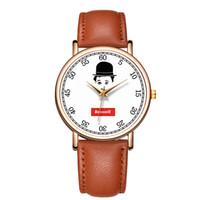 символьные часы оптовых-BAOSAILI необычные наручные часы прекрасный характер Чаплин мужские часы Relojes из нержавеющей стали обратно часы мужчина часы B-9159