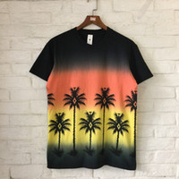 Wholesale coconut t - Summer Style Coconut Tree Printed Women Men T shirts Tees Hiphop Beach Style Men Cotton T shirts tee