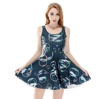 Wholesale flora dress girl resale online - Women Billowing Dress Color Bubble D Print Girl Stretchy Casual Pleated Parasol Dresses Lady Sleeveless Digital Graphic Skirt RLSkd1198