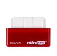 Wholesale power drive cars - Nitro OBD2 Performance Power Tuning Box Chip Plug Drive For Diesel Car NitroOBD2 CTE038-01 Gasoline Benzine Cars Chip Tuning Box HHA60