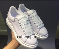 Wholesale Pink Lasers - 2018 Classic Mqueen Shoes Men 's Women' s Increase Shoes Laser Dazzle See Superstar Shell Head Sneakers High Quality With Box Size35-45