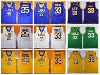 Wholesale tiger sleeveless shirt - Top Quality LSU Tigers 25 Ben Simmons Jersey Men 33 Shaquille O'Neal College Basketball Jerseys University Shirt Robert G. Cole High School