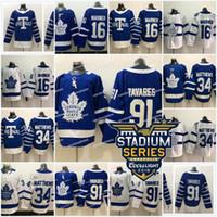 Wholesale 2018 New Johntavares Toronto Maple Leafs Jersey Austonmatthews Mitchell Marner Nathan MacKinnon High Quality Hockey Jerseys