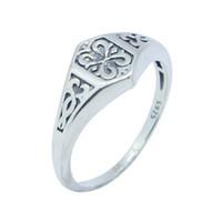anéis frescos para meninas venda por atacado-Novo Design Frete Grátis 925 Sterling Silver Cool Ring S925 Venda Quente Senhora Meninas Banda Anel de Festa