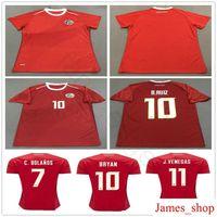 ladies jerseys NZ - 2018 World Cup Women Costa Rica Soccer Jersey 19 K.WASTON 12 CAMPELL 10 BRYAN 11 J.VENEGAS Custom Mens Ladies Football Shirt