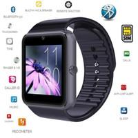 horloge des systèmes achat en gros de-Nouveau GT08 Bluetooth Smart Watch Clock Support Carte SIM Pour iPhone Android Samsung ANDROID Système peut prendre en charge toutes les fonctions dans la description