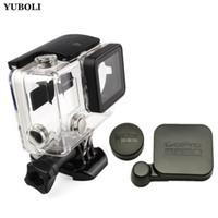 kamera pro held schwarz großhandel-neue Gopro Zubehör Gopro Hero 4 3 + wasserdichte Gehäuse Fall Box Für Gopro Go Pro Hero4 Hero3 + schwarz Edition Kamera Zubehör