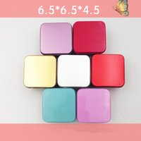 Wholesale Tin Tea Boxes Wholesale - High Quality Colorful Tea Caddy Tin Box Jewelry Storage Case Square Metal Mini Candy Box YYA989