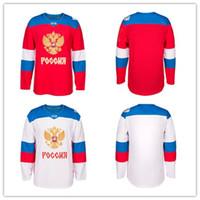 jérsei russo xxl venda por atacado-O bordado 2018 do jérsei do hóquei da equipe do russo costurou personaliza todo o número e nomeia Jerseys