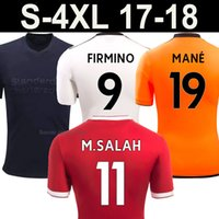 Wholesale Thailand Quality Soccer Jerseys Xxl - 17 18 M.SALAH FIRMINO MANE soccer jersey 2018 black orange best Thailand quality camisetas TURNER VIRGIL CHAMBERLAIN LALLANA Football Shirt