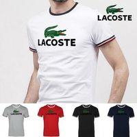 ingrosso nuova moda progettazione-Estate 2018 moda Animal Print T shirt uomo marchio di abbigliamento nuovo design, estate T-shirt maschio di alta qualità 100% cotone Tees, polsino banda
