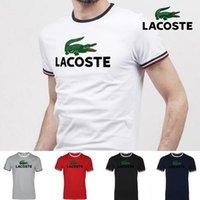 nouveaux modèles de chemises pour hommes achat en gros de-Mode été 2018 T-shirt à manches courtes pour hommes, nouveau design d'été, T-shirt pour hommes 100% coton de qualité supérieure, tee-shirt à rayures