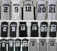 Wholesale lamarcus aldridge jersey - 2018 New City Edition #2 Kawhi Leonard 9 Tony Parker 12 LaMarcus Aldridge Pau Gasol 20 Manu Ginobili 21 Tim Duncan Basketball Jerseys