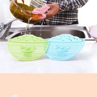 Wholesale plastic wash sink - Debris Filter Can Clip Cleaning Rice Washing Sieve Drainer Sink Strainer Kitchen Tool Gadget Wash Beans Colander Drain 1 75jm V
