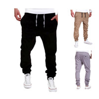 Wholesale pants for dance - Men's joggers male hiphop low drop crotch for Jeans hip hop sarouel dance baggy trouser pantalons Hombre harem pants men Cross Pants