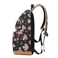 Wholesale shool backpack for sale - Group buy QICAI YANZI Teenager Girls Shool Bags Women Floral Softback Backpack Student Canvas Bagpack Female Tote Mochila Feminina Z525