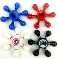 Wholesale Retail Acrylics - 2018 New Light Fidget Spinner Hand Spinners Toy EDC Hand Spinner Acrylic Plastic Fidgets Gyro Anxiety Toys Gift for Kids Spinner with box