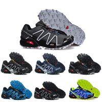 bf70e0ff787 sapatos pc venda por atacado-Velocidade Salomon Cruz 3 CS III Azul Preto  Cinza Respirável