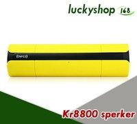 touch mp3 spieler groihandel-Ursprünglicher KR-8800 drahtloser Bluetooth Lautsprecher beweglicher Lautsprecher mit LCD-Schirm / FM Radio NFC Funktion / Noten-Tasten für Musik-Audioplayer 20X