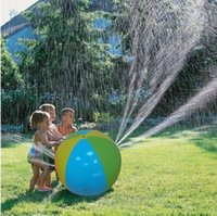 Wholesale play balls kids - HOT Inflatable Beach Water Ball Outdoor Sprinkler Summer Inflatable Water Spray Balloon Outdoors Play In The Water Beach Ball free ship