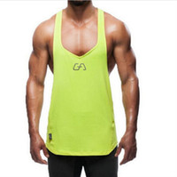Wholesale red vest body for sale - Group buy Muscle Brother Fast Dry Exercise Vest Man Tight Body Sleeveless Tops Men s Tank Tops