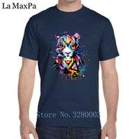 fertigen sie t-shirt besonders an großhandel-Kundengebundenes authentisches Mann-T-Shirt Jaguar-psychedelisches T-Shirt für Mann-Sommer-T-Shirt Mens-Tendenz O-Ansatz Hiphop