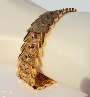 Wholesale indian wide gold chains resale online - ETERNAL FASHIONABLE K K K THAI BAHT AIRPLANE YELLOW GOLD GP WIDER Men s Bracelet B88