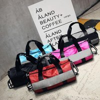 Wholesale traditional handbags - Sport Bags For Women Luxury Handbags Pink Letter Large Capacity Travel Duffle Striped Waterproof Beach Bagon Shoulder for Outdoor Business
