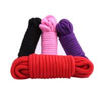 erwachsene spielzeug seil großhandel-Dicker Baumwolle Fetisch Sex Restraint Bondage Seil Slave Body Harness BDSM Sex Produkte Adult Sex Toys Für Paare