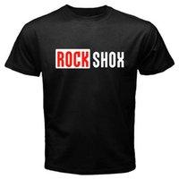 Wholesale bicycle print shirt - New ROCK SHOX Logo Mountain MTB Bikerr Bicycle Men's Black T-Shirt Size S to 3XL
