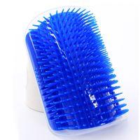 peigne d'épilation achat en gros de-En plastique peigne épilation chien outil de toilettage coin coin chiot brosse de massage auto brosse bleu 10dg c r