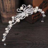 coiffe de perles de princesse achat en gros de-Coiffe de mariée, Pearl Princess, mariée de la couronne, accessoires de robe de mariage de couronne de diamant, ornements de couronne.